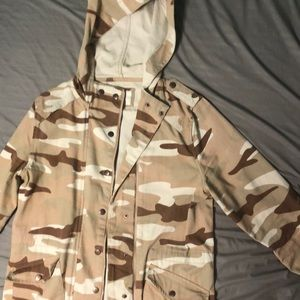 A Camo print jacket from forever 21